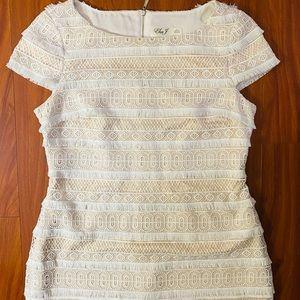 👗Eliza J white lace dress NWOT👗